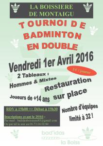 BADIDAS-Tournoi 2016-04-01